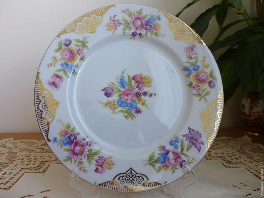 Винтажная посуда. Ярмарка Мастеров - ручная работа. Купить Cтаринная десертная тарелка, фарфор, Германия. Handmade. Комбинированный, фарфор из германии