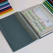 Канцелярские товары handmade. Livemaster - original item Organizer for A4 documents grey-blue. Handmade.