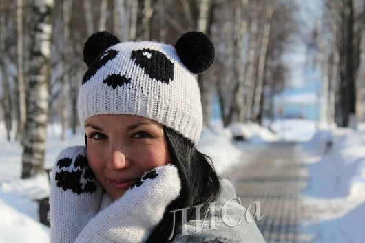 """Шапки ручной работы. Ярмарка Мастеров - ручная работа. Купить Шапочка """"Панда"""".. Handmade. Панда, комплект"""