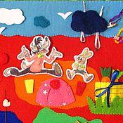 """Куклы и игрушки ручной работы. Ярмарка Мастеров - ручная работа Коврик развивающий с героями """"Ну погоди!"""" (из фетра). Handmade."""