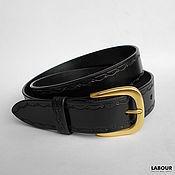 Straps handmade. Livemaster - original item Belt leather embossed type Pragi Thick horseshoe. Handmade.