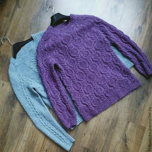 Кофты и свитера ручной работы. Ярмарка Мастеров - ручная работа. Купить Твидовый свитер. Handmade. Фиолетовый, свитер женский, альпака