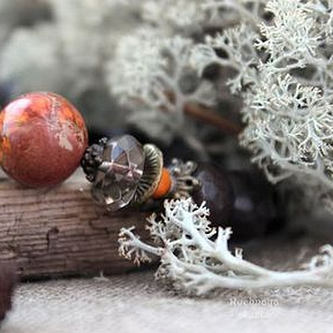 Украшения ручной работы. Ярмарка Мастеров - ручная работа Падающий лист - браслет. Handmade.