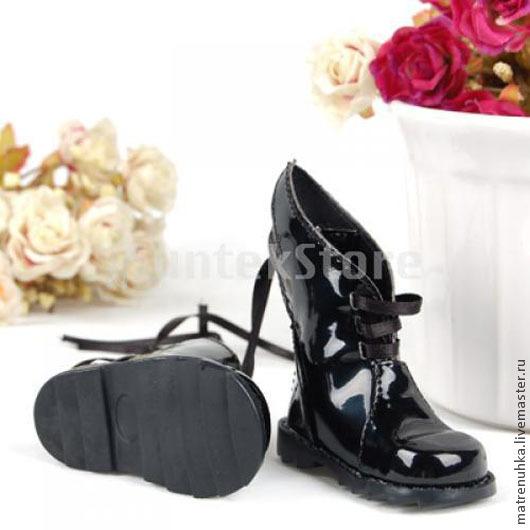 Обувь ручной работы. Ярмарка Мастеров - ручная работа. Купить Обувь для кукол. Сапожки для куклы Лакированные.. Handmade. Обувь для кукол