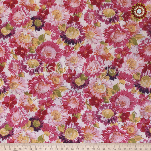 Ткань для пэчворка`Астра Фламинго`. Хлопок 100%. ZT-00082