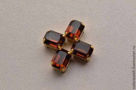 Для украшений ручной работы. Ярмарка Мастеров - ручная работа. Купить Винтажные кристаллы Swarovski 8 х 6 мм. цвет Smoked Topaz. Handmade.
