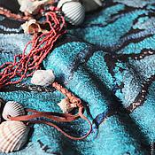 """Одежда ручной работы. Ярмарка Мастеров - ручная работа Топ летний валяный """"Море волнуется.."""". Handmade."""
