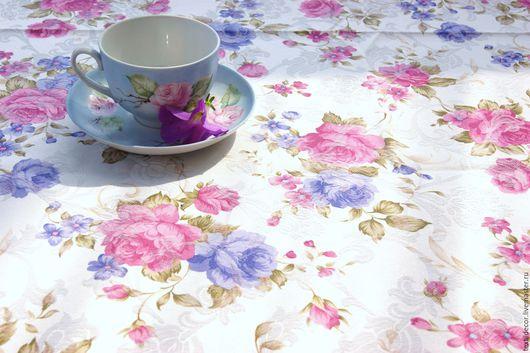 """Текстиль, ковры ручной работы. Ярмарка Мастеров - ручная работа. Купить Скатерть жаккард """"Милые цветы"""". Handmade. Комбинированный"""