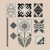 "Материалы для творчества handmade. Livemaster - original item Machine Embroidery Designs Set ""Black and White"" bt160. Handmade."