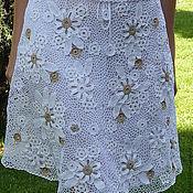 """Одежда ручной работы. Ярмарка Мастеров - ручная работа Юбка """"Белые цветы"""". Handmade."""