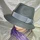 Шляпы ручной работы. Ярмарка Мастеров - ручная работа. Купить Шляпа валяная Федора. Handmade. Серый, Шляпа валяная, аксессуар