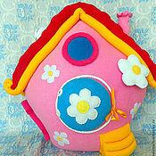 Для дома и интерьера ручной работы. Ярмарка Мастеров - ручная работа Подушка - игрушка   Домик Нюши. Handmade.