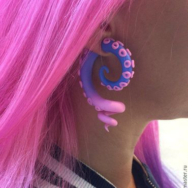 Subcultures handmade. Livemaster - original item GRADIENT TENTACLES OF THE OCTOPUS OF LURISTANICA TUNNELS PLUG TO BUY. Handmade.