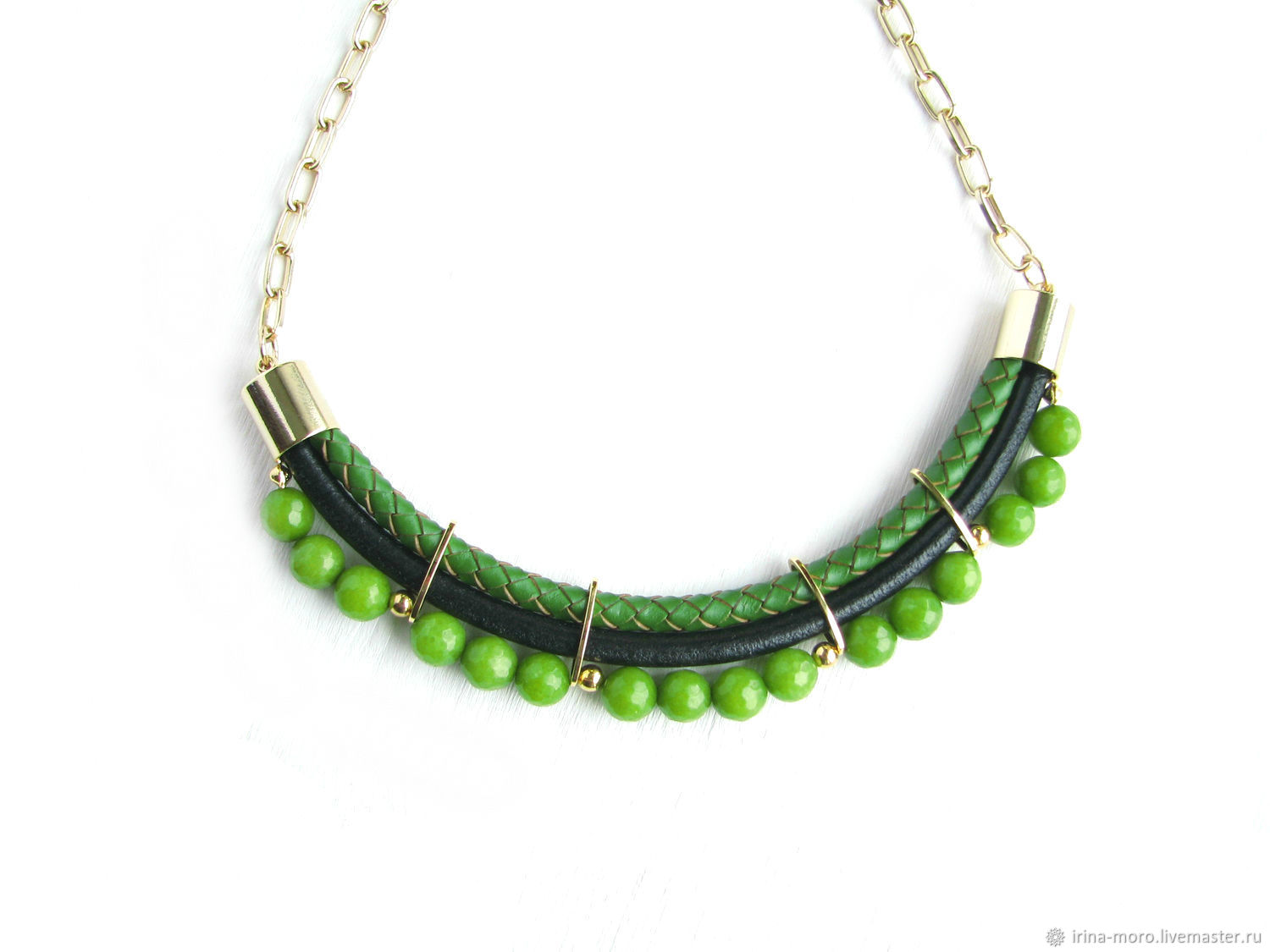 Fashion necklace,green necklace,black necklace,bright necklace, Necklace, Moscow,  Фото №1