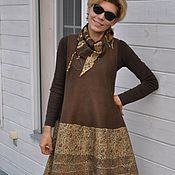 "Одежда ручной работы. Ярмарка Мастеров - ручная работа валяный сарафан  ""Brown"". Handmade."