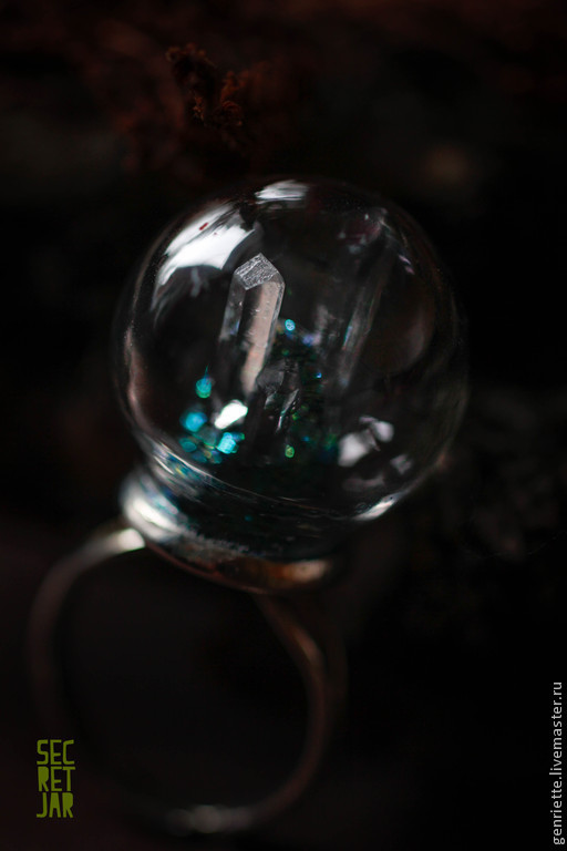 """Кольца ручной работы. Ярмарка Мастеров - ручная работа. Купить Кольцо """"Дары гор"""". Handmade. Кольцо с камнем, горный хрусталь"""