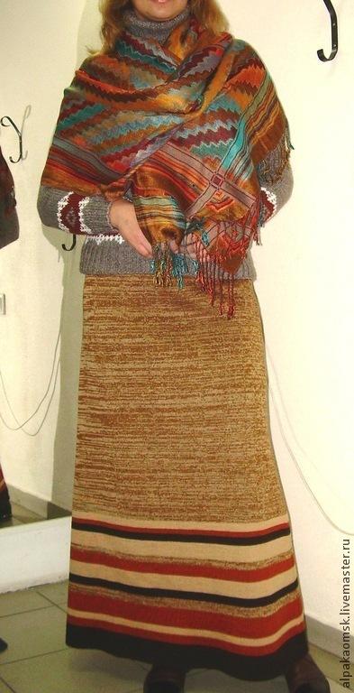 Юбки ручной работы. Ярмарка Мастеров - ручная работа. Купить юбка трикотажная длинная. Handmade. В полоску, юбка вязаная