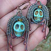 Украшения handmade. Livemaster - original item Earrings copper