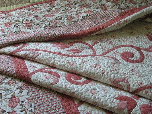 """Текстиль, ковры ручной работы. Ярмарка Мастеров - ручная работа. Купить Покрывало и подушки """"Мечты об Эдеме"""". Handmade. Коралловый"""