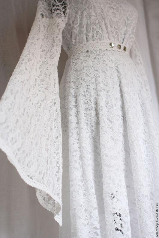 Одежда и аксессуары ручной работы. Ярмарка Мастеров - ручная работа. Купить Сказочное свадебное платье. Handmade. Белый, эльфийское платье
