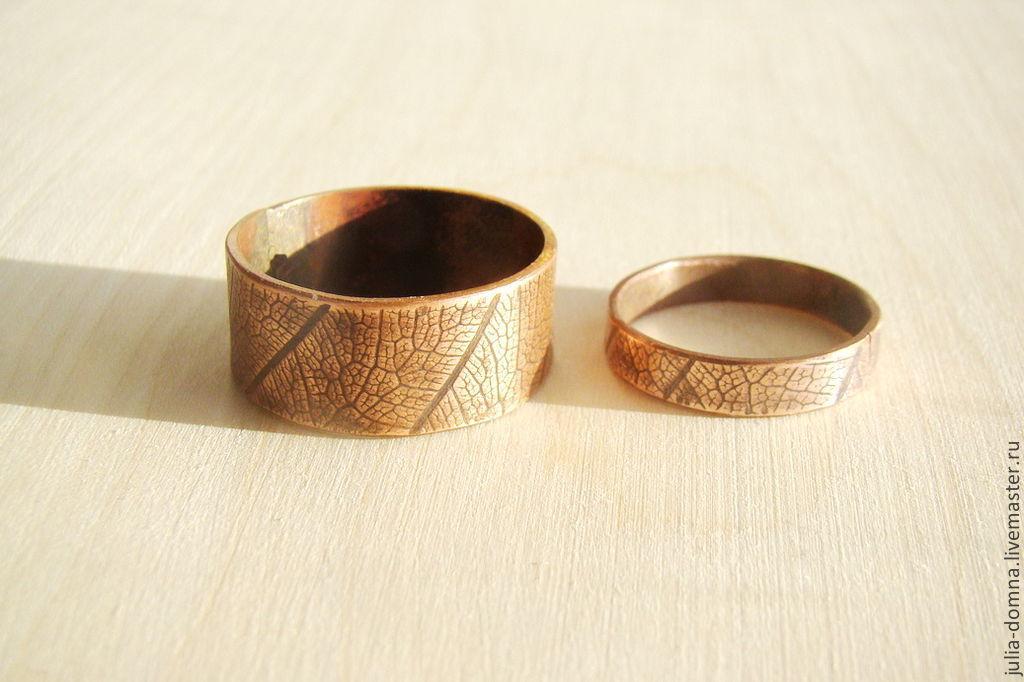 Медное кольцо обручальное