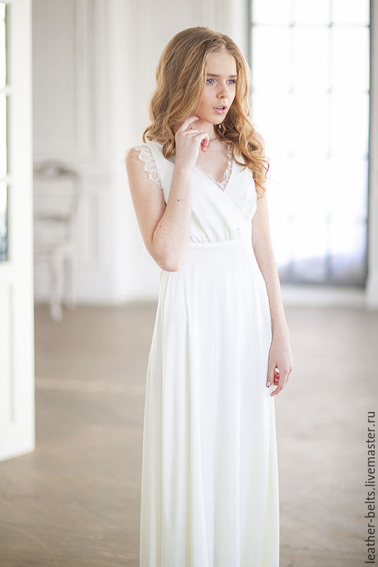 Одежда и аксессуары ручной работы. Ярмарка Мастеров - ручная работа. Купить Свадебное платье в стиле ампир. Handmade. Белый