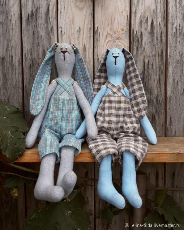 Тильда Клетчатые зайцы, Тильда Зверята, Маслянино,  Фото №1