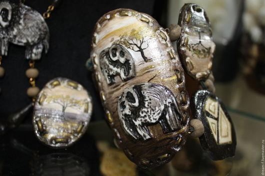 """Комплекты украшений ручной работы. Ярмарка Мастеров - ручная работа. Купить Комплет бижутерии """"Сафари"""" (все продается отдельно). Handmade."""