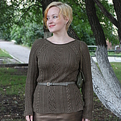 Одежда ручной работы. Ярмарка Мастеров - ручная работа Шелко-кашемировый пуловер. Handmade.