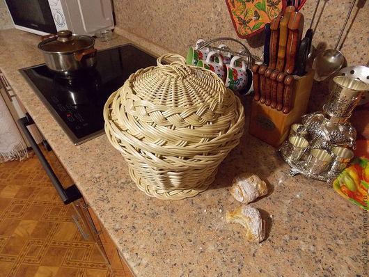 Кухня ручной работы. Хлебница круглая. sinichka - nevelichka. Интернет-магазин Ярмарка Мастеров. Корзина, ивовая лоза