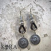 Украшения handmade. Livemaster - original item Earrings made of Portuguese cork handmade Br0040b. Handmade.
