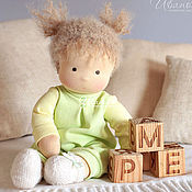 Куклы и игрушки ручной работы. Ярмарка Мастеров - ручная работа Вальдорфская кукла Яблочная Непоседа. Handmade.