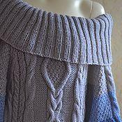 """Одежда ручной работы. Ярмарка Мастеров - ручная работа Платье вязаное """"Северное сияние"""" ручная работа синий голубой. Handmade."""