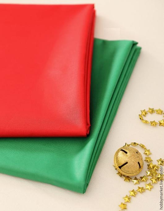 Шитье ручной работы. Ярмарка Мастеров - ручная работа. Купить Ткань хлопок Однотонная ( зеленая, красная), 160 см. Handmade.