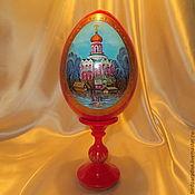Яйца ручной работы. Ярмарка Мастеров - ручная работа Яйцо пасхальное расписное с миниатюрой. Handmade.