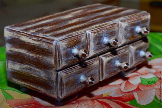 """Персональные подарки ручной работы. Ярмарка Мастеров - ручная работа. Купить """"Переливающийся комодик"""". Handmade. Коричневый, подарок, подарок подруге"""