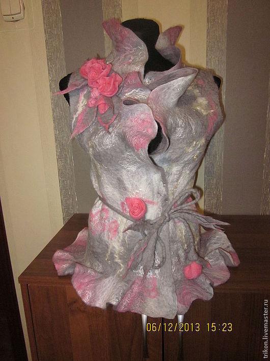 """Жилеты ручной работы. Ярмарка Мастеров - ручная работа. Купить Жилет """" На заре"""". Handmade. Розовый, жилет"""