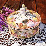 Винтаж handmade. Livemaster - original item CAPODIMONTE.Vintage Italian jewelry box with angels.. Handmade.
