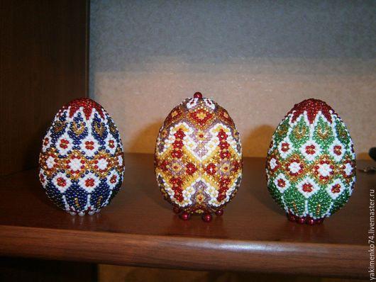 """Яйца ручной работы. Ярмарка Мастеров - ручная работа. Купить Яйцо """"Мечта"""". Handmade. Комбинированный, пасхальный сувенир, подарок, мононить"""
