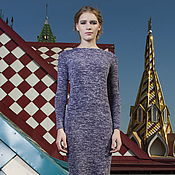 Одежда handmade. Livemaster - original item Dress melange purple-white Jersey dress purple white. Handmade.