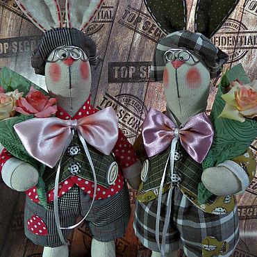 Куклы и игрушки ручной работы. Ярмарка Мастеров - ручная работа Тильды:зайцы. Handmade.
