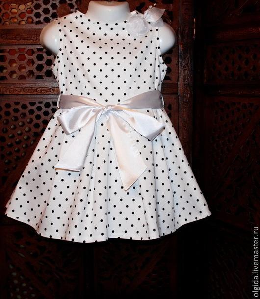 Одежда для девочек, ручной работы. Ярмарка Мастеров - ручная работа. Купить БЕЛОСНЕЖКА платье для девочки.. Handmade. Платье, итальянский хлопок