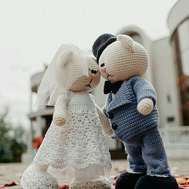 Свадебный салон ручной работы. Ярмарка Мастеров - ручная работа Игрушки жених и невеста. Handmade.