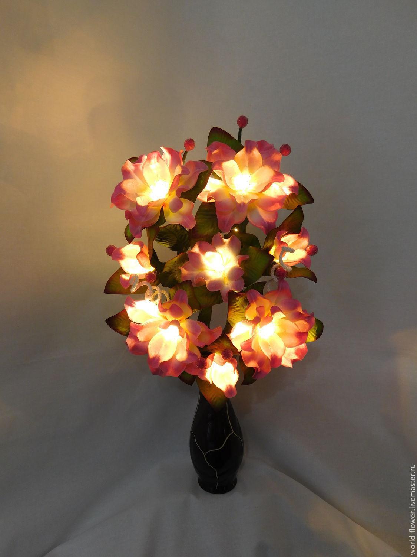 Bouquet lamp 'Camellia', Ceiling and pendant lights, Surgut,  Фото №1