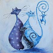 Картины и панно ручной работы. Ярмарка Мастеров - ручная работа Семейство котиков. Handmade.