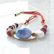 Украшения handmade. Livemaster - original item The MARINE 3 short beads. Handmade.