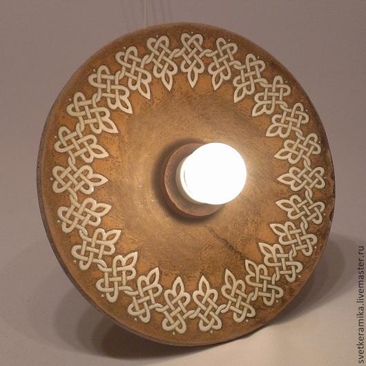 Освещение ручной работы. Ярмарка Мастеров - ручная работа. Купить Керамический светильник на жестком подвесе.. Handmade. Керамический плафон