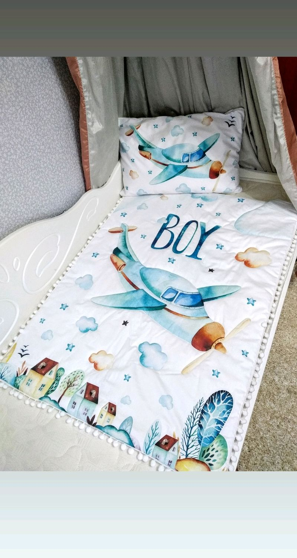 Комплект в детскую кроватку для мальчика, Детское белье, Орехово-Зуево,  Фото №1