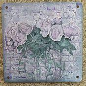 """Для дома и интерьера ручной работы. Ярмарка Мастеров - ручная работа """"Сатиновые розы"""". Handmade."""