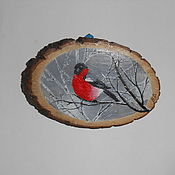 Картины ручной работы. Ярмарка Мастеров - ручная работа Живопись на срезе дерева. Handmade.